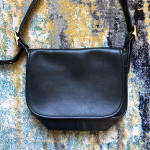 Coach Black Rich Leather Crossbody Messanger